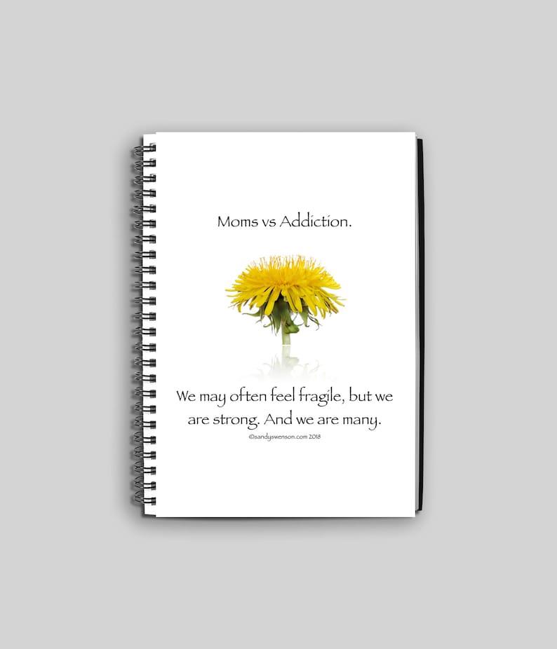 Wire Bound Dandelion Notebook or Journal for Moms of Children image 0