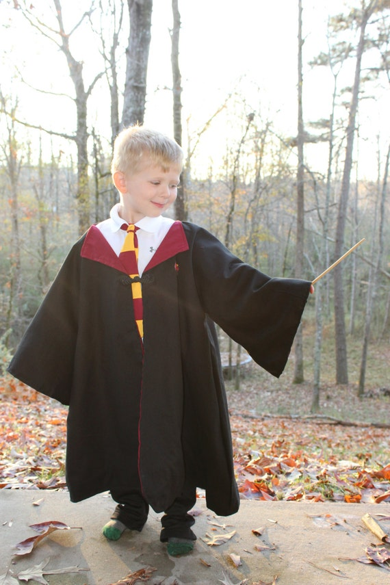 Harry Potter Inspired Costume Child Harry Potter Robe And Etsy