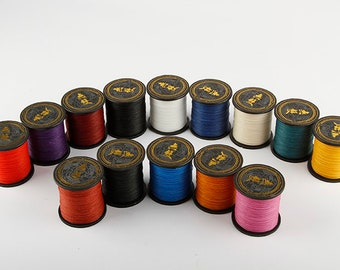 0.65mm Professional 3 Strands Waxed Lined Thread hand sewing cord lacing leathercraft leather craft