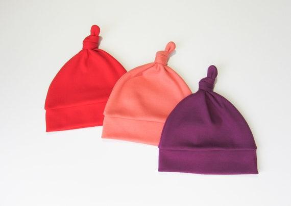 9a1e673d078a Noeud pour Bonnets-bébé bio chapeaux-bébé en coton bio   Etsy