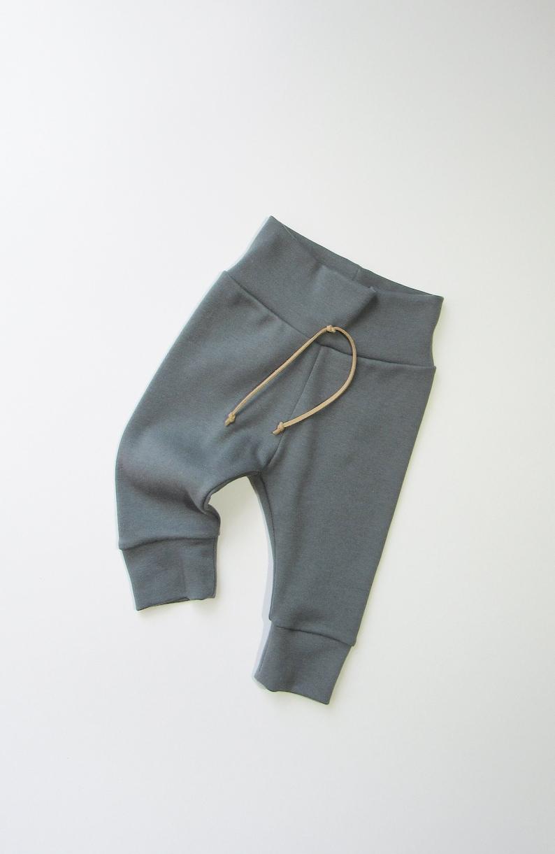 70beac11dbddc Dark slate ORGANIC leggings-Dark gray pants-Boy solid color | Etsy