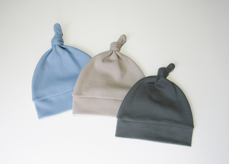 473c88eeceb ORGANIC beanie-Baby boy hats-Boy beanie-Solid color hats-Knot