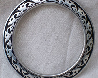 Large Decorated Engraved Belt Ring Renaissance Medieval SCA LARP Pirate Steampunk Rennie - Stainless Steel
