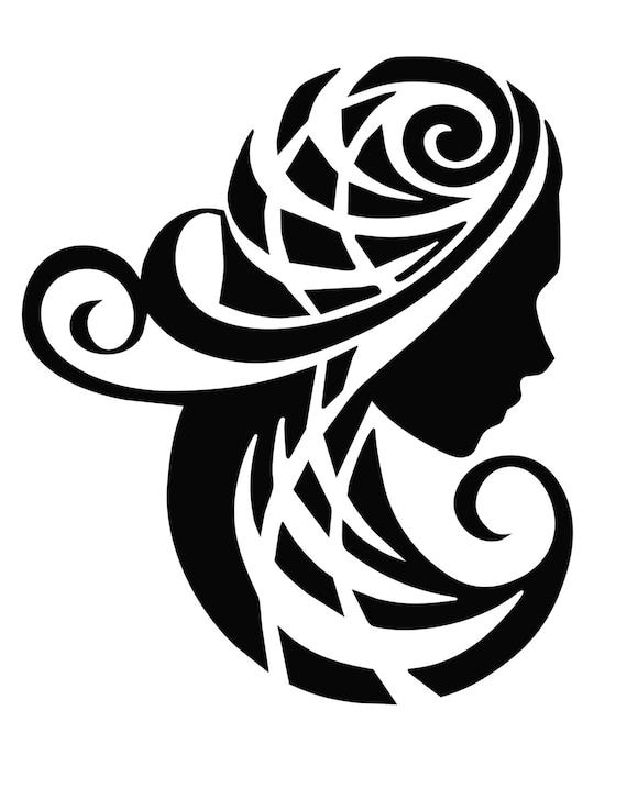 eb681210911cb Items similar to Virgo Zodiac Sign Tribal on Etsy