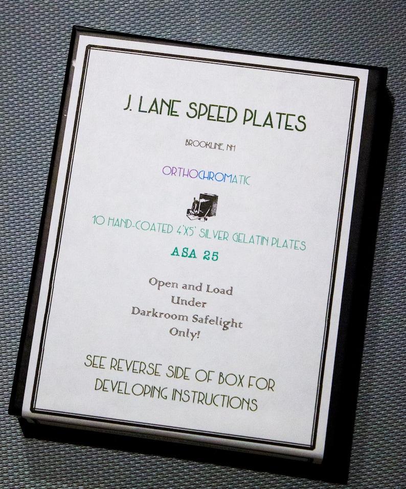 10 Plates per Box New 4x5 ASA 25 Orthochromatic Dry Plates Black and White