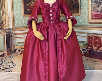18th century Baroque Rococo Marie Antoinette gown, Robe Anglaise