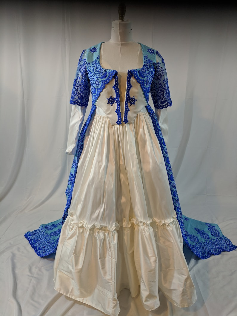 Masquerade Ball Clothing: Masks, Gowns, Tuxedos 1780s embellished silk taffeta gown $449.00 AT vintagedancer.com