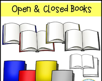 Opened & Closed Books Clip Art