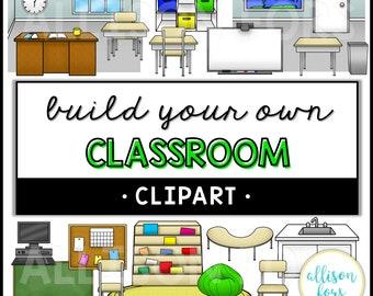 Classroom Clip Art Etsy