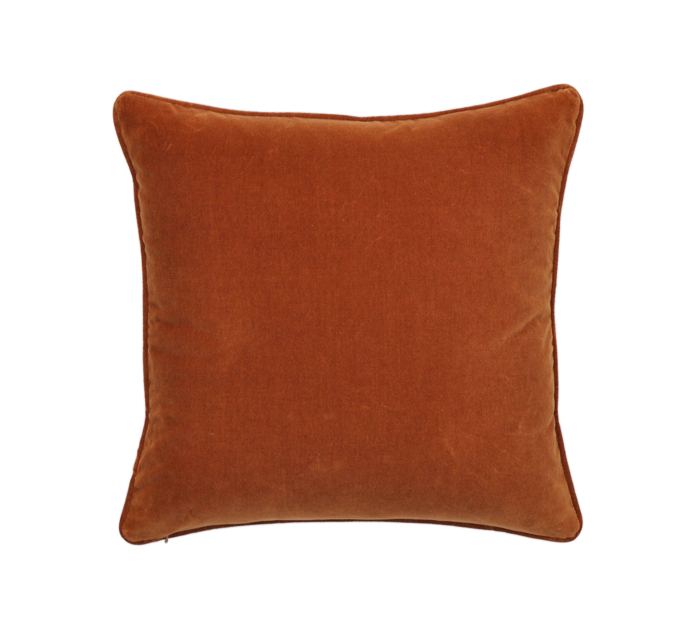 Burnt Orange Pillow Cover Cotton Velvet Pillow Cover Etsy