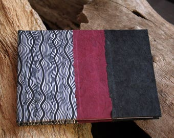 15.5 X 11 cm - unique - handmade papers cover writing book.