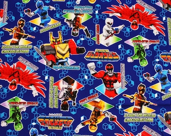 Doubutsu Sentai Zyuohger Animal Squadron Zyuohger Oxford Fabric made in Japan by the Half Yard