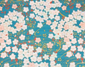 Dobby Flower Apricot blossoms Japanese Kimono Style Fabric made in Korea by the Half Yard