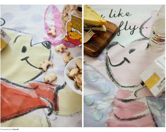 Winnie the Pooh Character Fabric made in Korea / Panel / Cushion / Pillow Cover