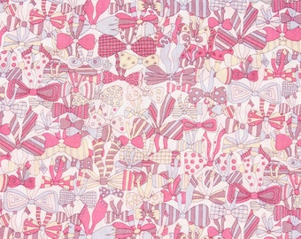 """Liberty Fabric made in Japan, Jenny's Ribbon FQ 45cm by 53cm or 18"""" by 21"""""""