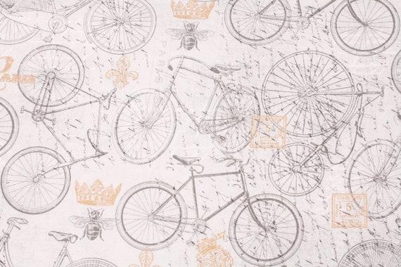Bikes Printed Fabric Joann Fabrics By The Half Yard Etsy