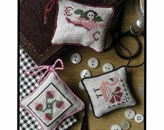 PDF FILE *Pomegranate Sewing Tray /& Persimmon Scissor Fob