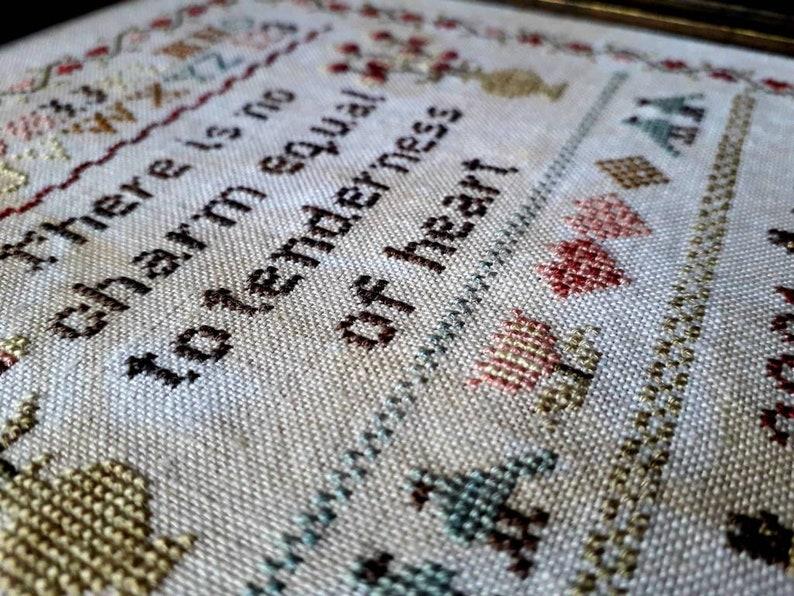 A Tender Heart Cross Stitch sampler chart
