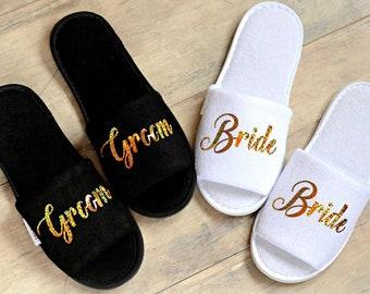 5c3908d8e7464 Wedding slippers | Etsy