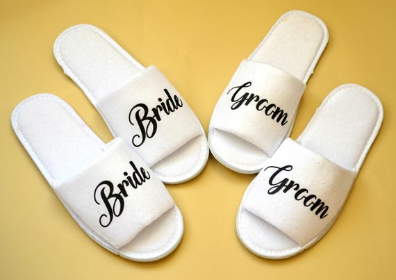 03a46ba17f244 Bridesmaid custom slippers personalized SPA hotel slippers