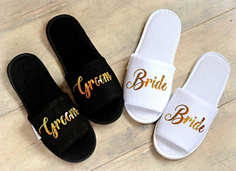 a2e72abd96a5d Wedding Slippers Bride Slippers Groom Slippers Personalised
