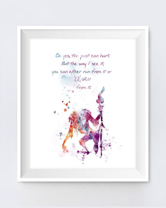 Rafiki Quote Lion King Art Nursery Print Lion King Poster Watercolor Lion  King Quotes Disney Gift Painting Wall Art Digital Download