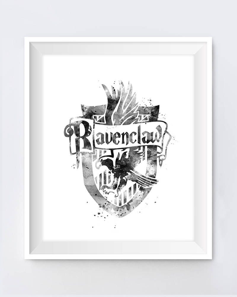 Ravenclaw Crest Printable Black And White Harry Potter | Etsy