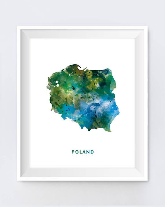 Warsaw poster Map of Warsaw Warsaw art Warsaw map print Poland map Warsaw wall art Warsaw print Warsaw gift Printable Warsaw map art
