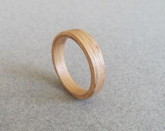 OAK BENTWOOD RING / Wood ring / Wooden ring / Simple ring / Wood band / Anniversary band / anniversary gift / Husband ring / boyfriend ring