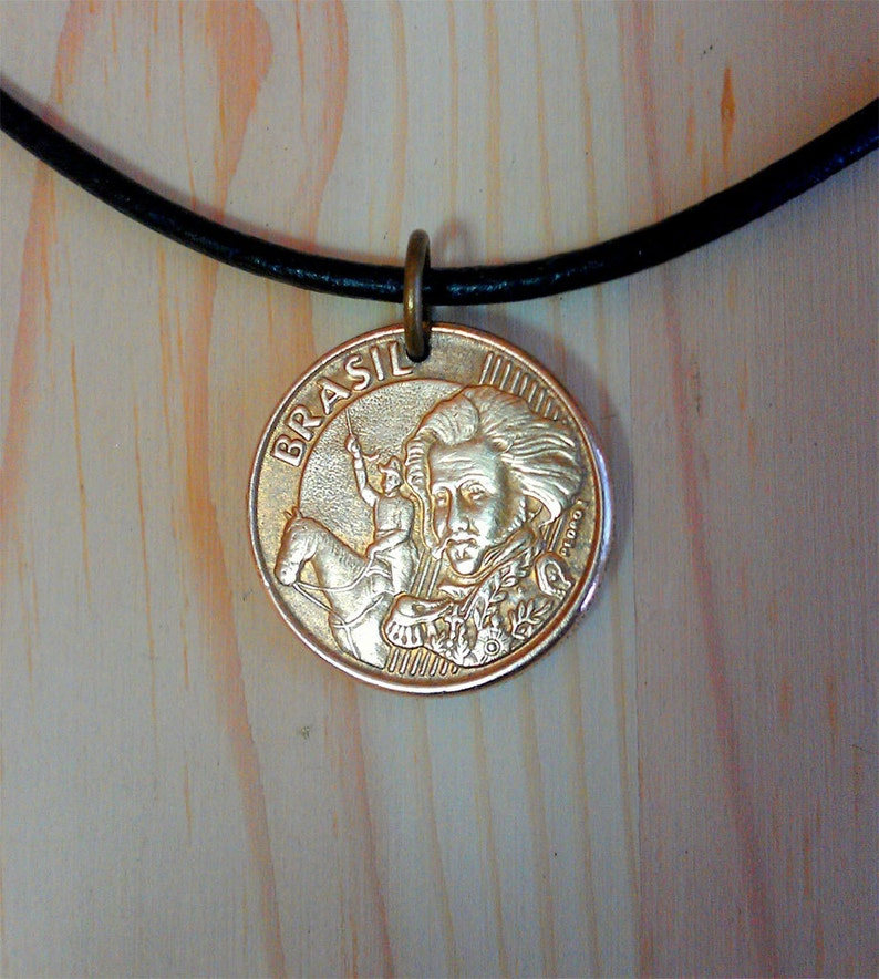 Brazilian  10 Centavos Coin Pendant Charm Brazil Coin Necklace