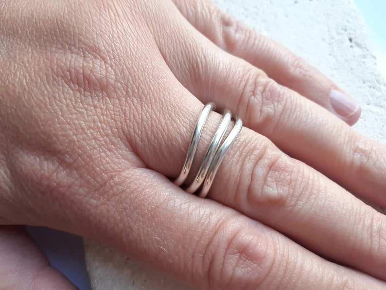 Ring Hallmarked Sterling Silver Size UK P 12 Wiggle