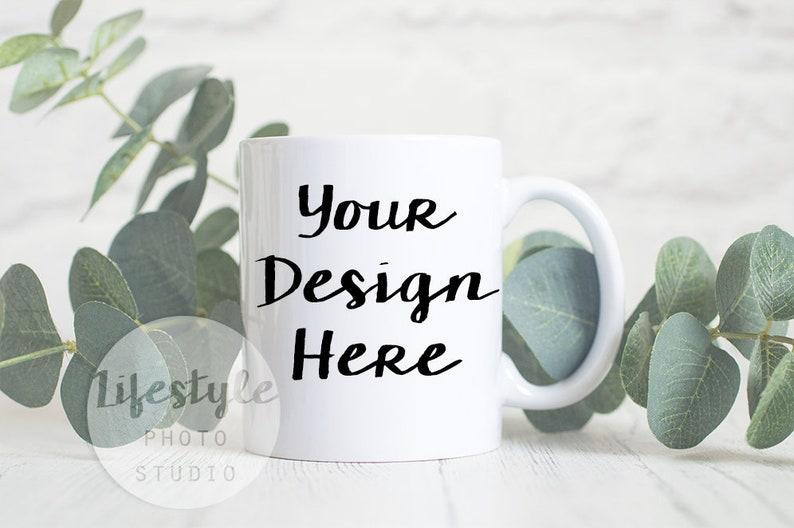 Mug Mock Up / Styled Stock Mug Photograph / Blank Mug image 0