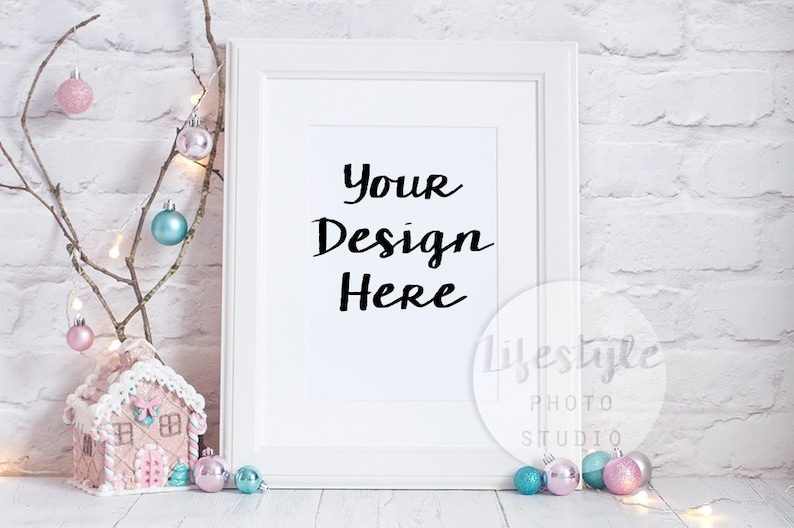 A4/A3 Frame Stock Photography / Styled Frame Mock Up / Blank image 0