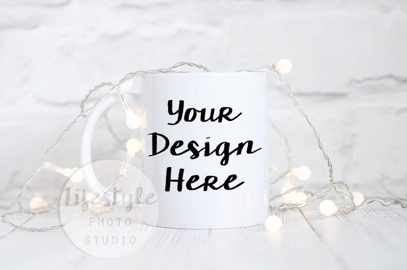 Mug Stock Photography / Styled Mug Mock Up / Blank Mug image 0