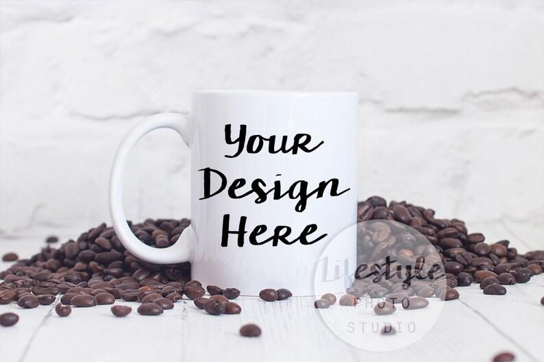 Styled Mug Photograph / Mug Mock Up Photography / Blank Mug image 0