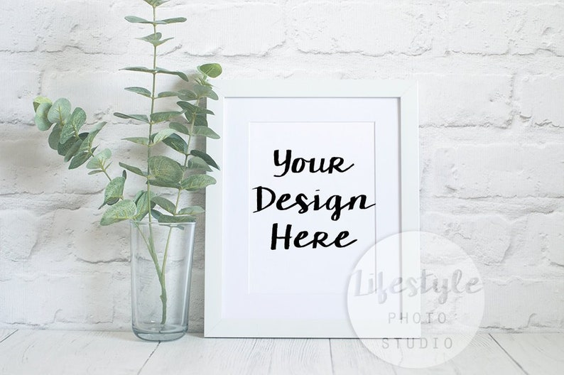 White Frame Mockup  / Styled Frame Mock Up / Blank Art image 0