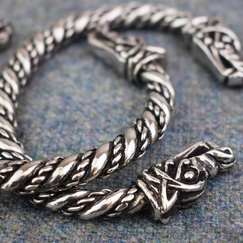 Large Viking Norse Wolf Bracelet ABLET006 image 0
