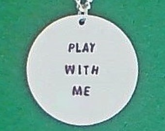 necklace- creepypasta necklace- play with me- creepypasta