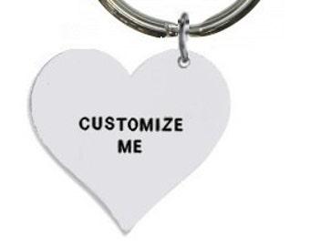 Custom Keyring- Personalised Keyring- Hand Stamped Keyring- Custom Keychain- Personalized Keychain- Customisable Keyring- heart keyring