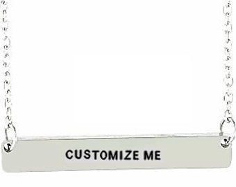 customized necklace- personalized necklace- customized jewelry- customisable necklace- custom necklace- bar necklace- custom bar necklace
