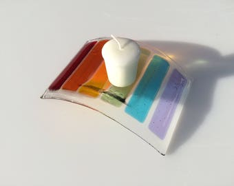 Pet loss rainbow bridge candle holder