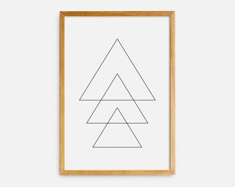 photograph regarding Printable Triangles named Printable triangles Etsy