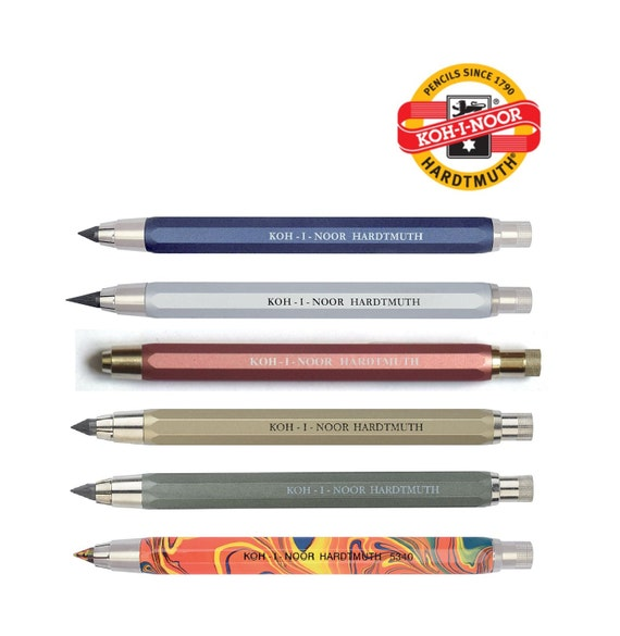 KOH-I-NOOR RED Mechanical Leadholder Pencil 5.6mm Mix Leads Artists Drawing
