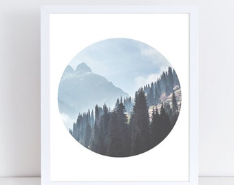 Nature Prints, Mountain Wall Decor, Mountain Print, Mountain Poster, Forest Photography, Forest Wall Art, Landscape Poster, Minimalist Art.