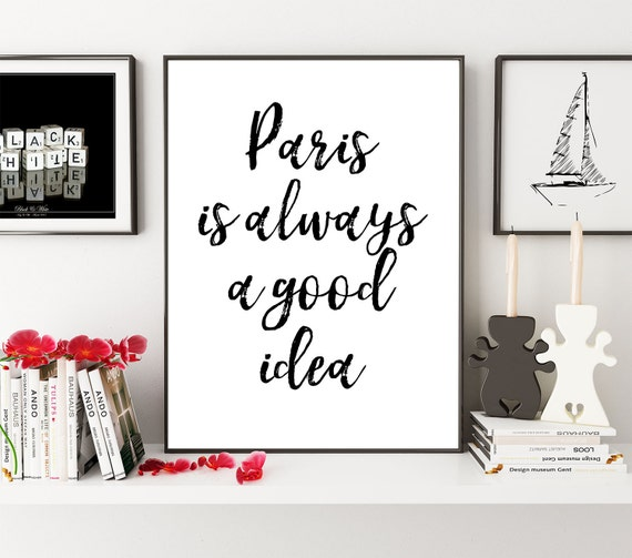 paris ist immer eine gute idee paris print audrey hepburn etsy. Black Bedroom Furniture Sets. Home Design Ideas