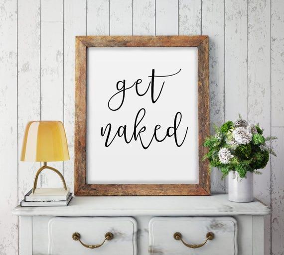 Nackt bekommen Sie nackt Poster Bad Sign Badezimmer Grafik | Etsy