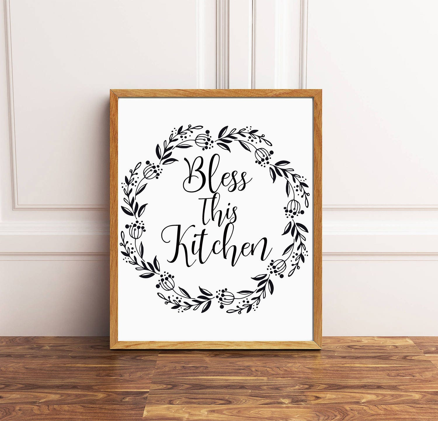 Decorative Kitchen Accessories Uk: Bless This Kitchen Kitchen Wall Decor Kitchen Print