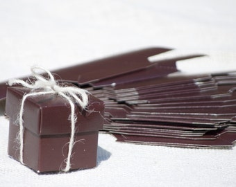 25 Small Brown Favor Boxes
