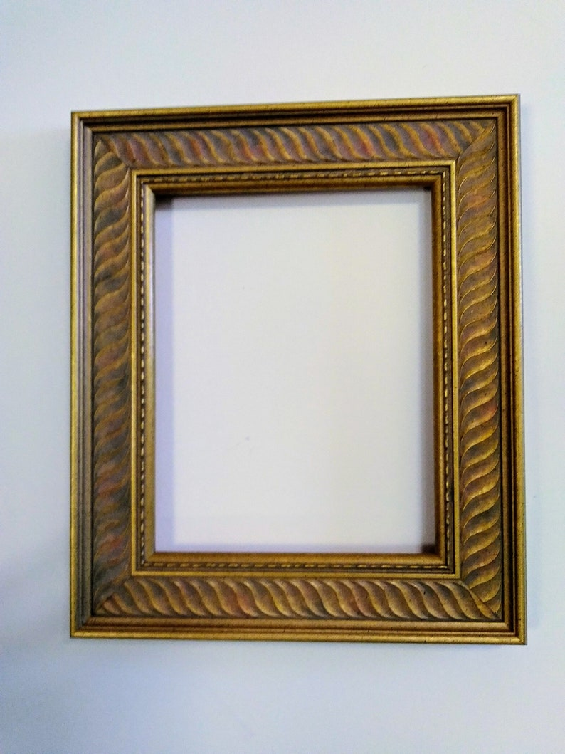 9a5ddb20893 7 x 9 Gold leaf Ornate leaves Picture Frame Photos Drawings