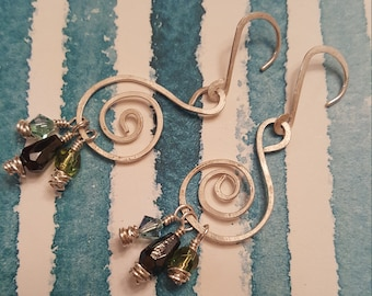 Sterling Silver, Swarovski Crystals, & Glass Beads